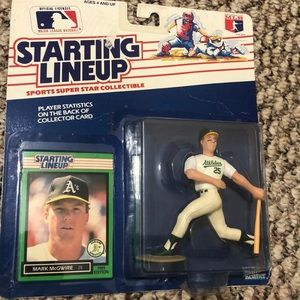 Starting lineup collectible Mark McGwire 1989